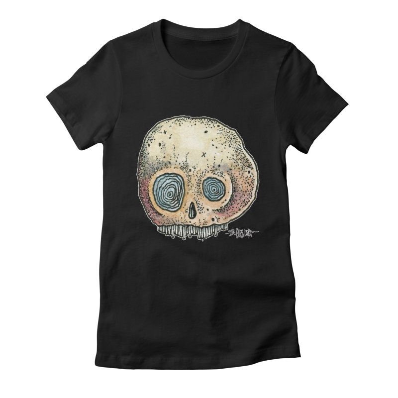 Skull Series 1 Women's T-Shirt by Bad Otis Link's Artist Shop
