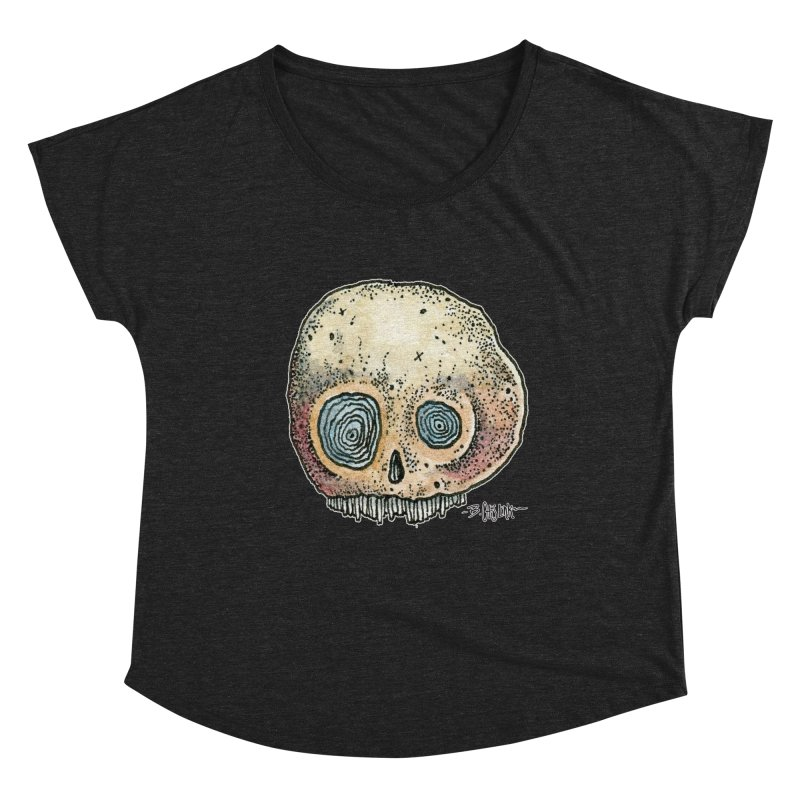 Skull Series 1 Women's Scoop Neck by Bad Otis Link's Artist Shop