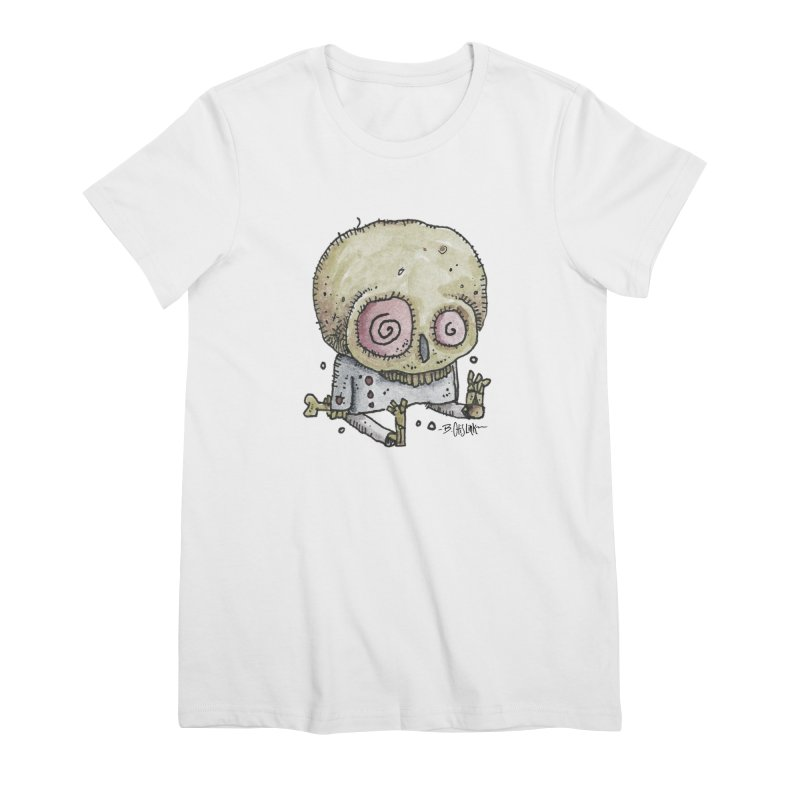 Skull Series 2 Women's Premium T-Shirt by Bad Otis Link's Artist Shop