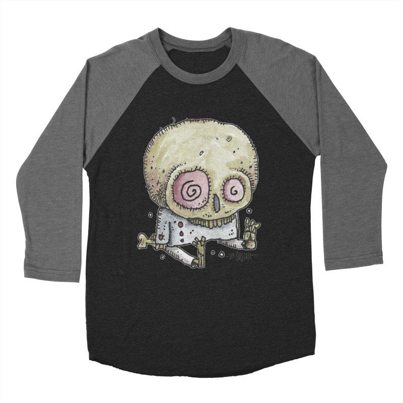 Skull Series 2 Women's Baseball Triblend Longsleeve T-Shirt by Bad Otis Link's Artist Shop