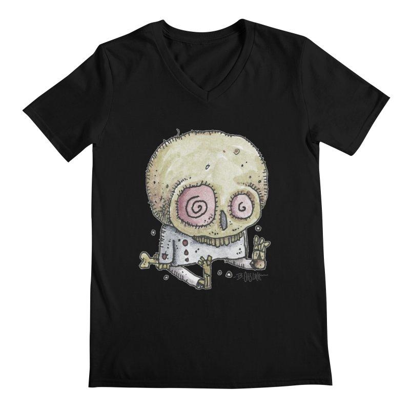 Skull Series 2 Men's V-Neck by Bad Otis Link's Artist Shop