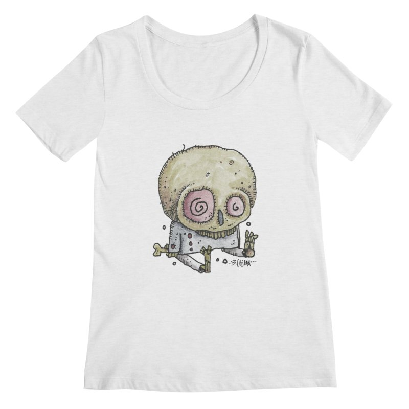 Skull Series 2 Women's Regular Scoop Neck by Bad Otis Link's Artist Shop
