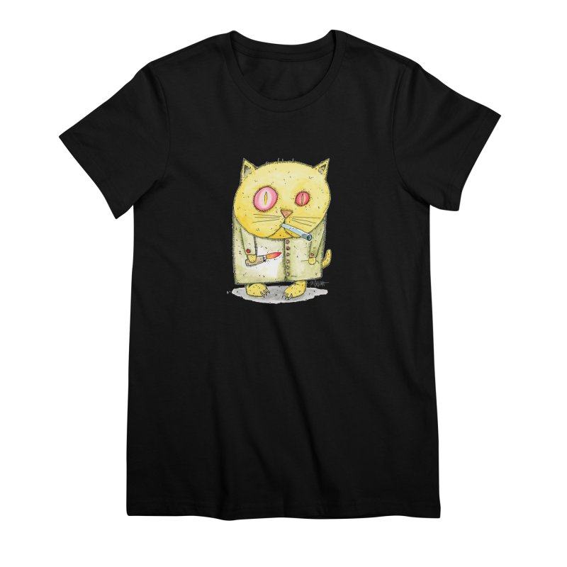 Crack Kitty Women's Premium T-Shirt by Bad Otis Link's Artist Shop
