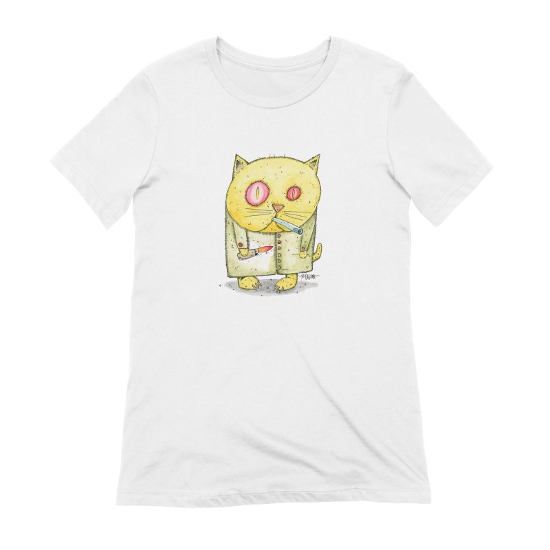 Crack Kitty Women's Extra Soft T-Shirt by Bad Otis Link's Artist Shop