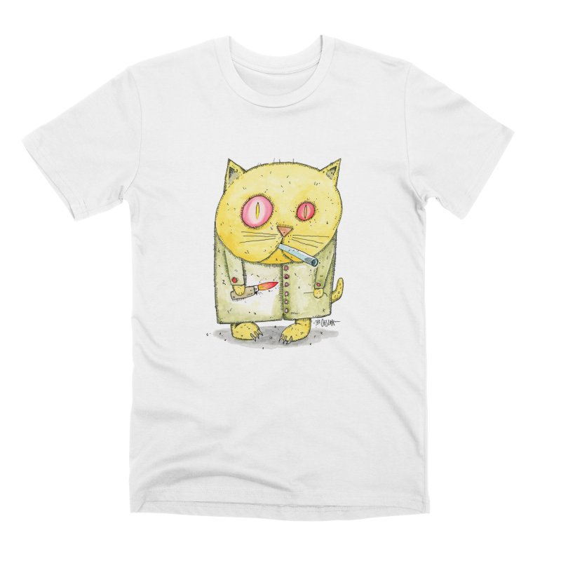 Crack Kitty Men's T-Shirt by Bad Otis Link's Artist Shop