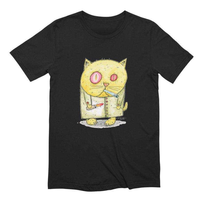 Crack Kitty Men's Extra Soft T-Shirt by Bad Otis Link's Artist Shop