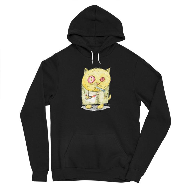 Crack Kitty Women's Sponge Fleece Pullover Hoody by Bad Otis Link's Artist Shop