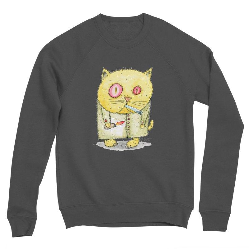 Crack Kitty Women's Sponge Fleece Sweatshirt by Bad Otis Link's Artist Shop