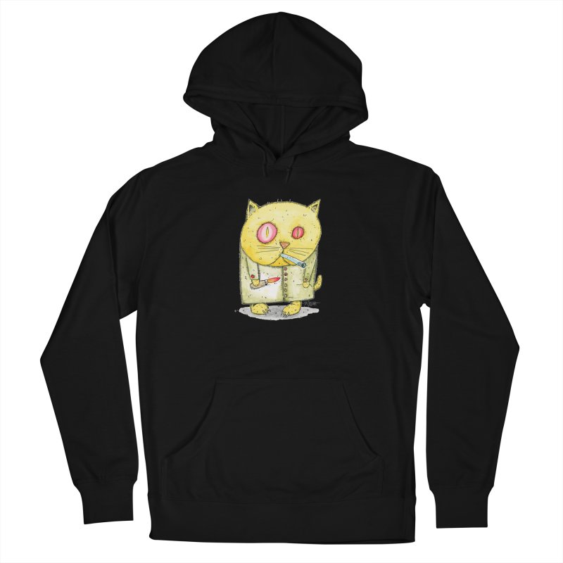Crack Kitty Men's French Terry Pullover Hoody by Bad Otis Link's Artist Shop