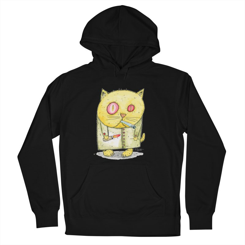Crack Kitty Women's French Terry Pullover Hoody by Bad Otis Link's Artist Shop