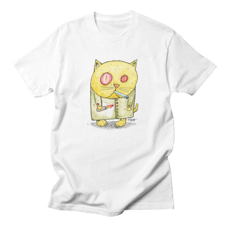 Crack Kitty Men's Regular T-Shirt by Bad Otis Link's Artist Shop