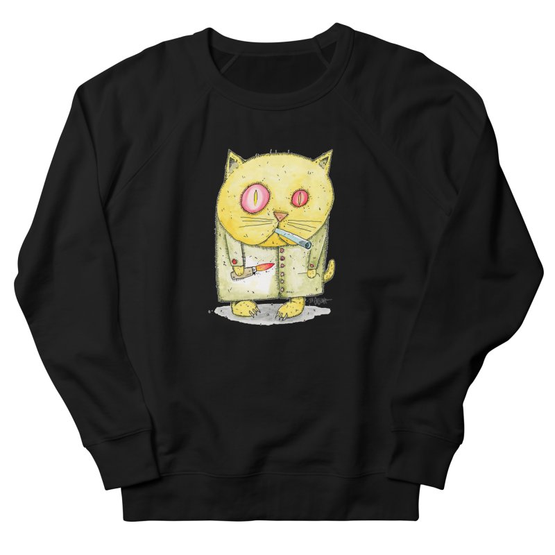 Crack Kitty Men's Sweatshirt by Bad Otis Link's Artist Shop