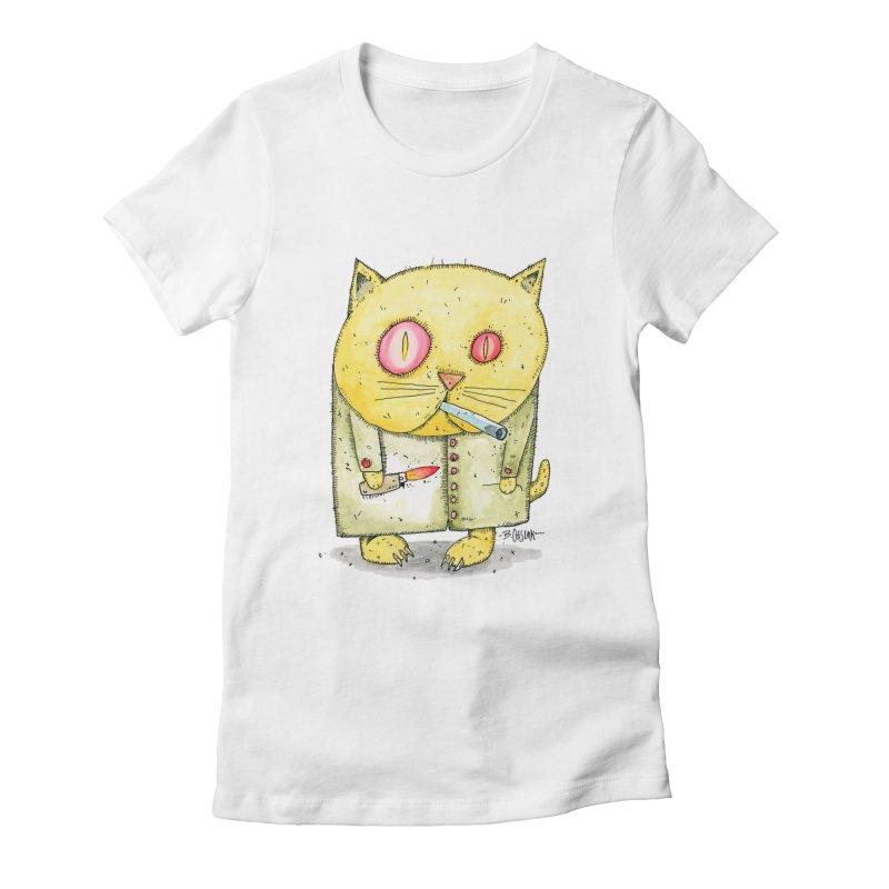 Crack Kitty Women's T-Shirt by Bad Otis Link's Artist Shop