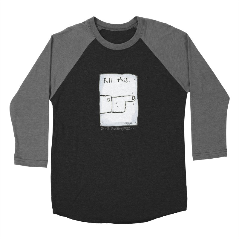 The Origin Of Comedy Men's Baseball Triblend Longsleeve T-Shirt by Bad Otis Link's Artist Shop