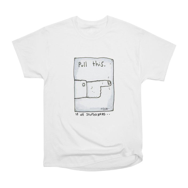 The Origin Of Comedy Men's Heavyweight T-Shirt by Bad Otis Link's Artist Shop