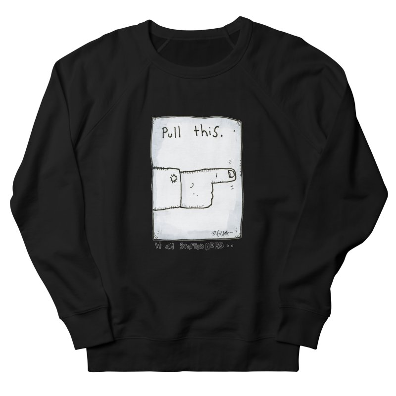 The Origin Of Comedy Women's French Terry Sweatshirt by Bad Otis Link's Artist Shop
