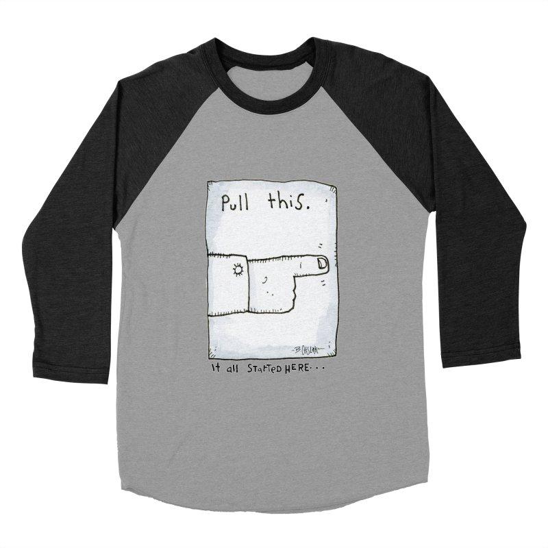 The Origin Of Comedy Women's Baseball Triblend Longsleeve T-Shirt by Bad Otis Link's Artist Shop