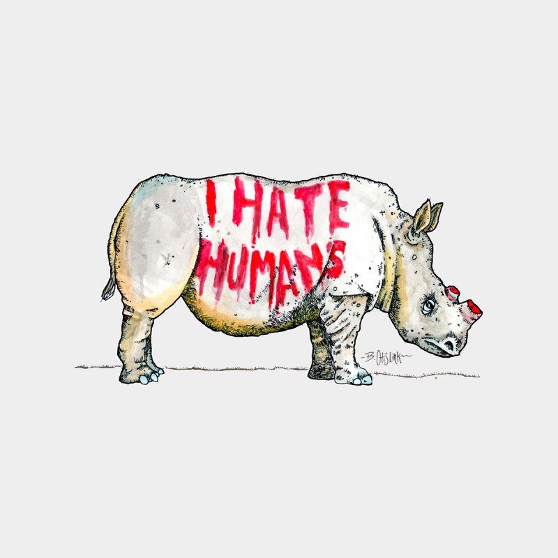I Hate Humans - Rhino Men's Tank by Bad Otis Link's Artist Shop