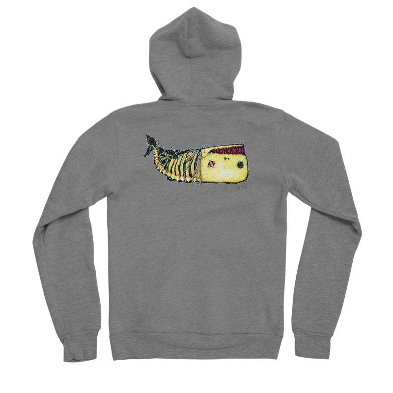 I Hate Humans - Whale Men's Sponge Fleece Zip-Up Hoody by Bad Otis Link's Artist Shop