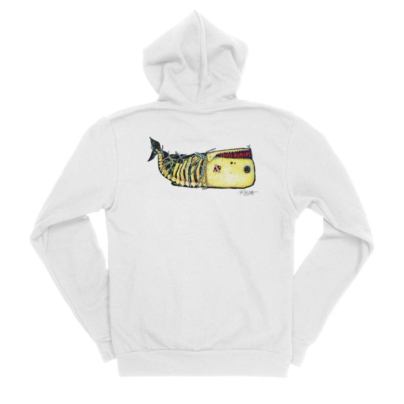 I Hate Humans - Whale Women's Sponge Fleece Zip-Up Hoody by Bad Otis Link's Artist Shop