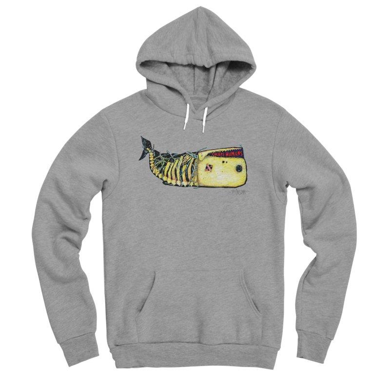 I Hate Humans - Whale Women's Sponge Fleece Pullover Hoody by Bad Otis Link's Artist Shop