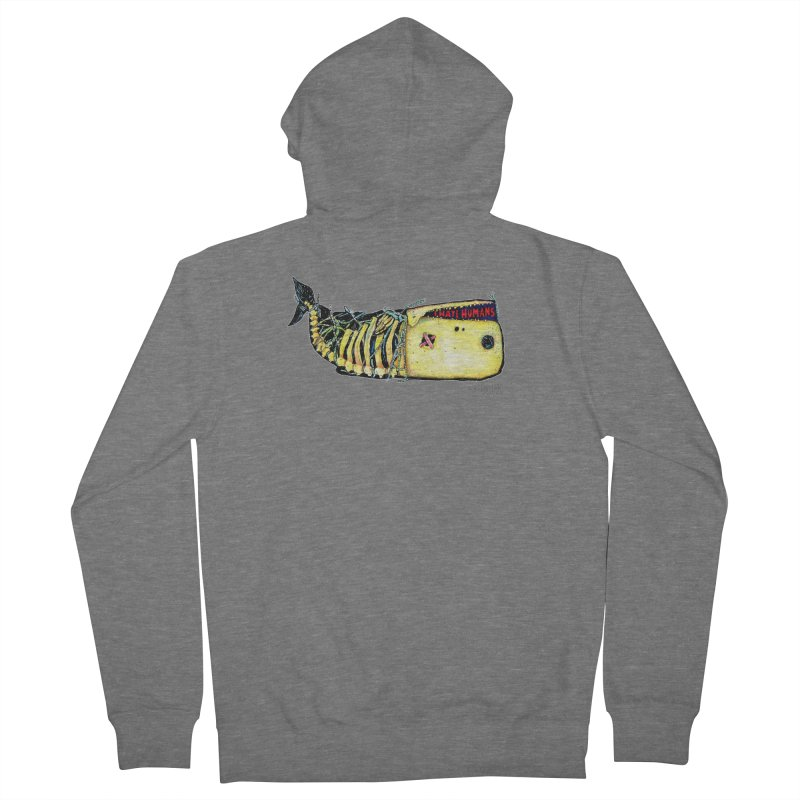 I Hate Humans - Whale Women's French Terry Zip-Up Hoody by Bad Otis Link's Artist Shop