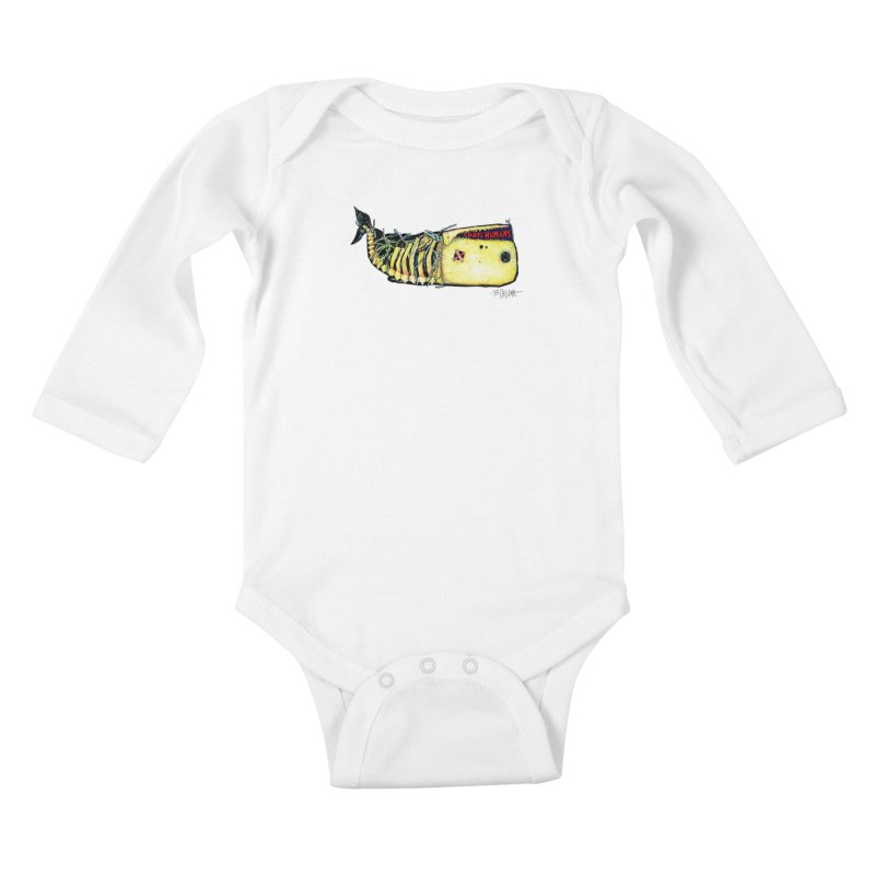 I Hate Humans - Whale Kids Baby Longsleeve Bodysuit by Bad Otis Link's Artist Shop