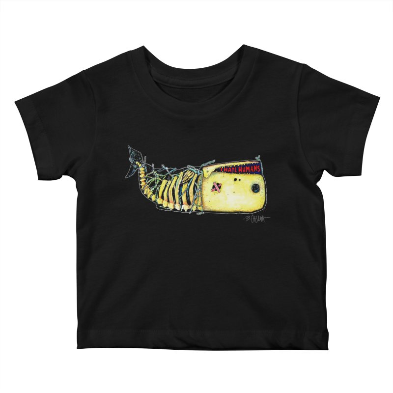 I Hate Humans - Whale Kids Baby T-Shirt by Bad Otis Link's Artist Shop