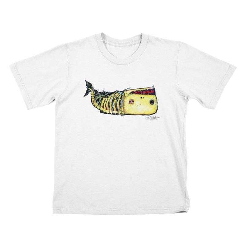 I Hate Humans - Whale Kids T-Shirt by Bad Otis Link's Artist Shop