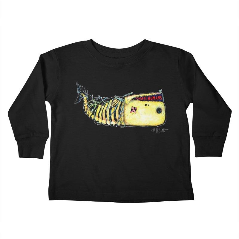 I Hate Humans - Whale Kids Toddler Longsleeve T-Shirt by Bad Otis Link's Artist Shop