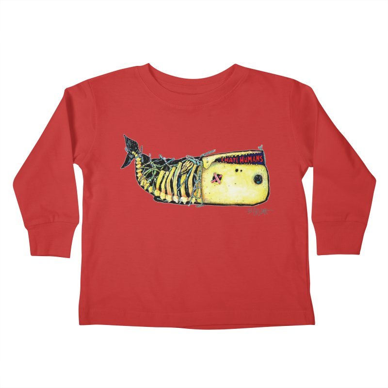 I Hate Humans - Whale Kids Toddler Longsleeve T-Shirt by Bad Otis Link's Artist Shop
