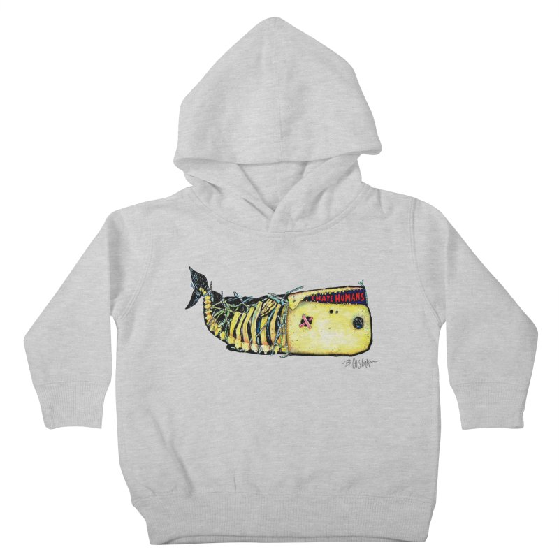 I Hate Humans - Whale Kids Toddler Pullover Hoody by Bad Otis Link's Artist Shop