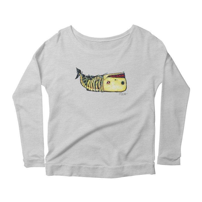 I Hate Humans - Whale Women's Scoop Neck Longsleeve T-Shirt by Bad Otis Link's Artist Shop