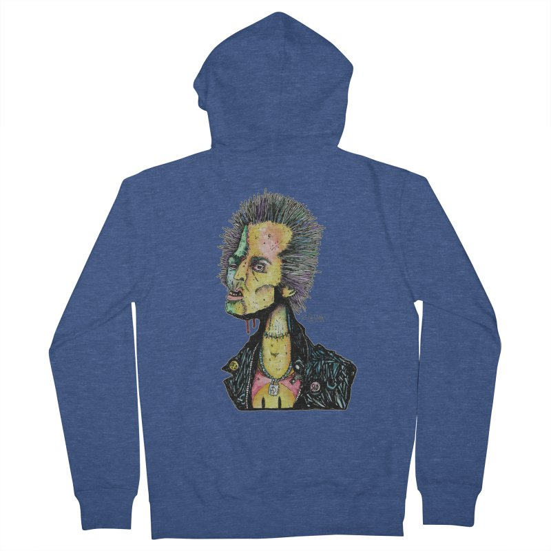 DED SID Men's French Terry Zip-Up Hoody by Bad Otis Link's Artist Shop