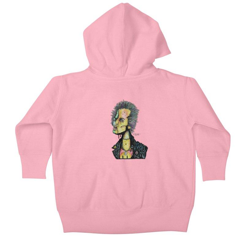 DED SID Kids Baby Zip-Up Hoody by Bad Otis Link's Artist Shop