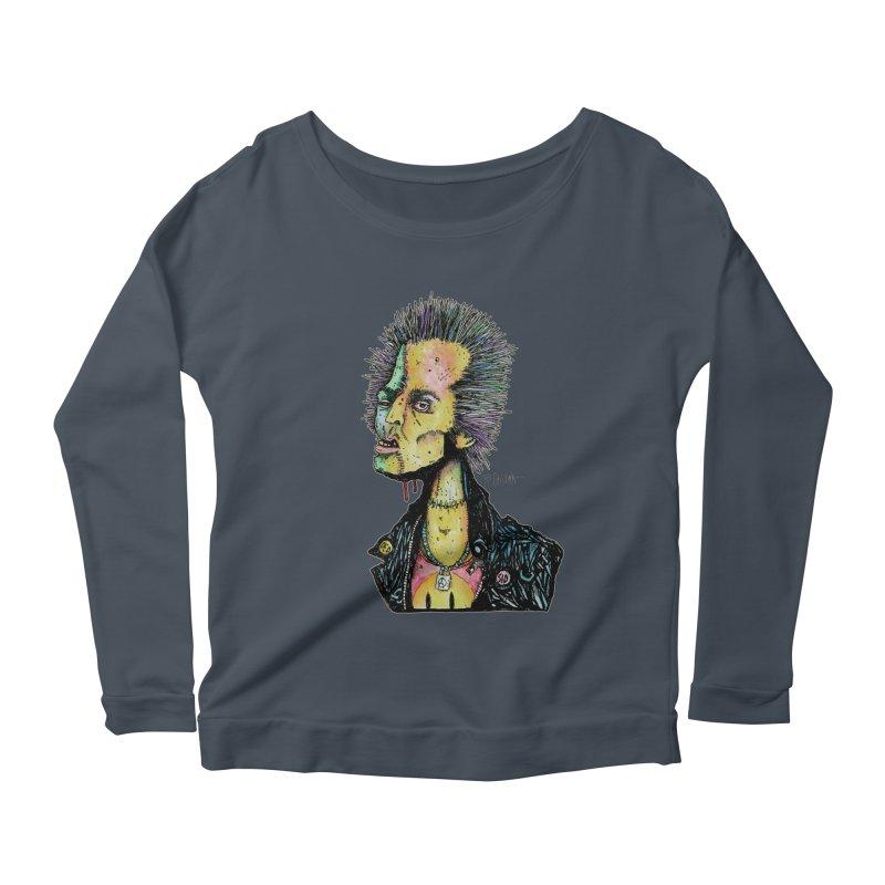 DED SID Women's Scoop Neck Longsleeve T-Shirt by Bad Otis Link's Artist Shop