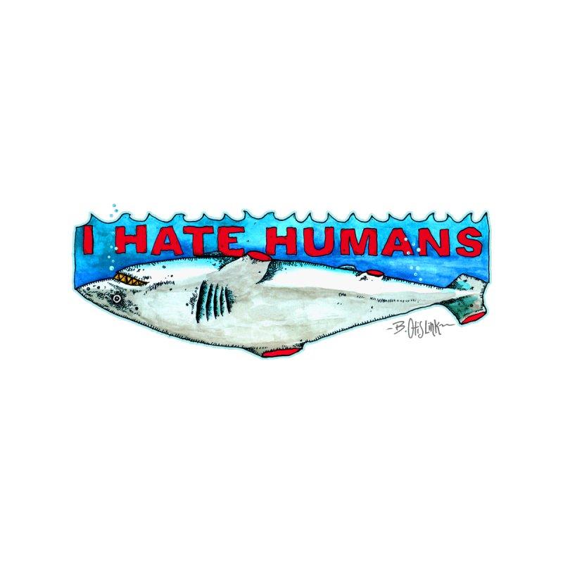 I Hate Humans Shark Fin Men's Tank by Bad Otis Link's Artist Shop