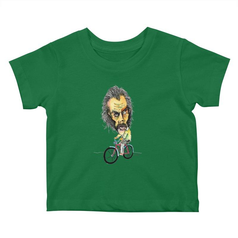 Nicks Wild Ride Kids Baby T-Shirt by Bad Otis Link's Artist Shop