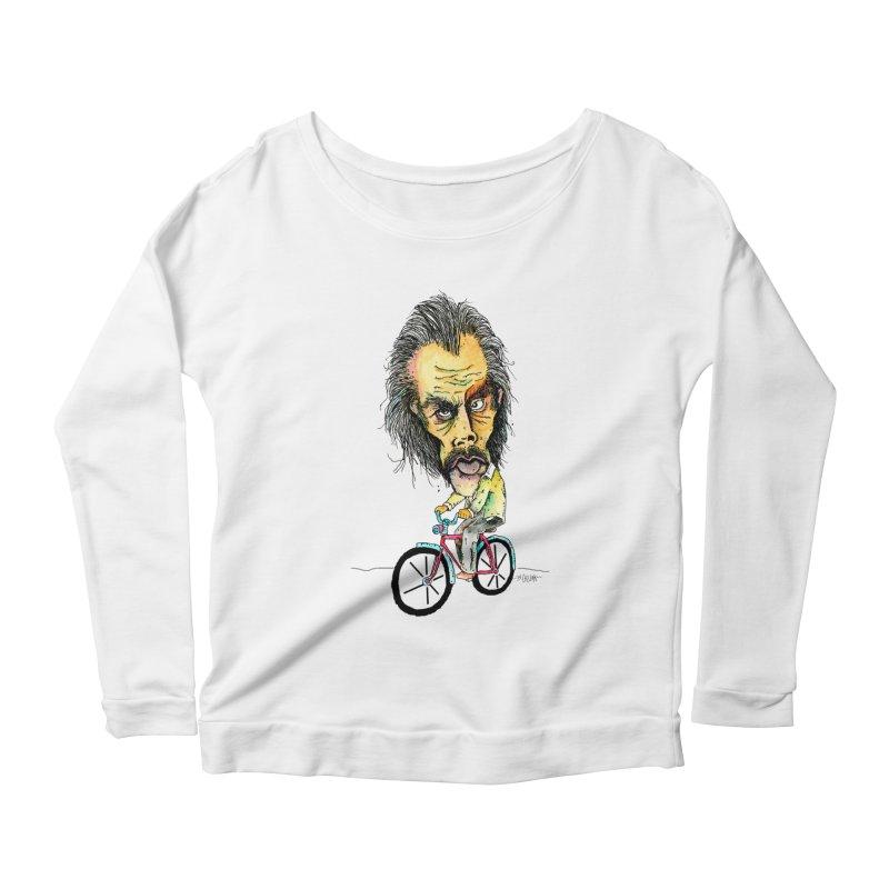 Nicks Wild Ride Women's Scoop Neck Longsleeve T-Shirt by Bad Otis Link's Artist Shop