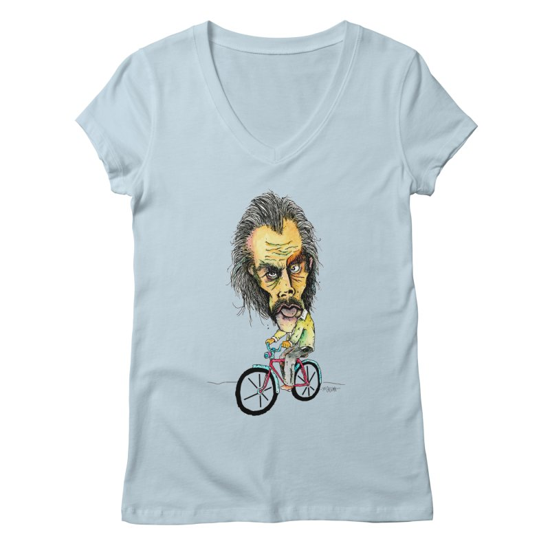 Nicks Wild Ride Women's V-Neck by Bad Otis Link's Artist Shop