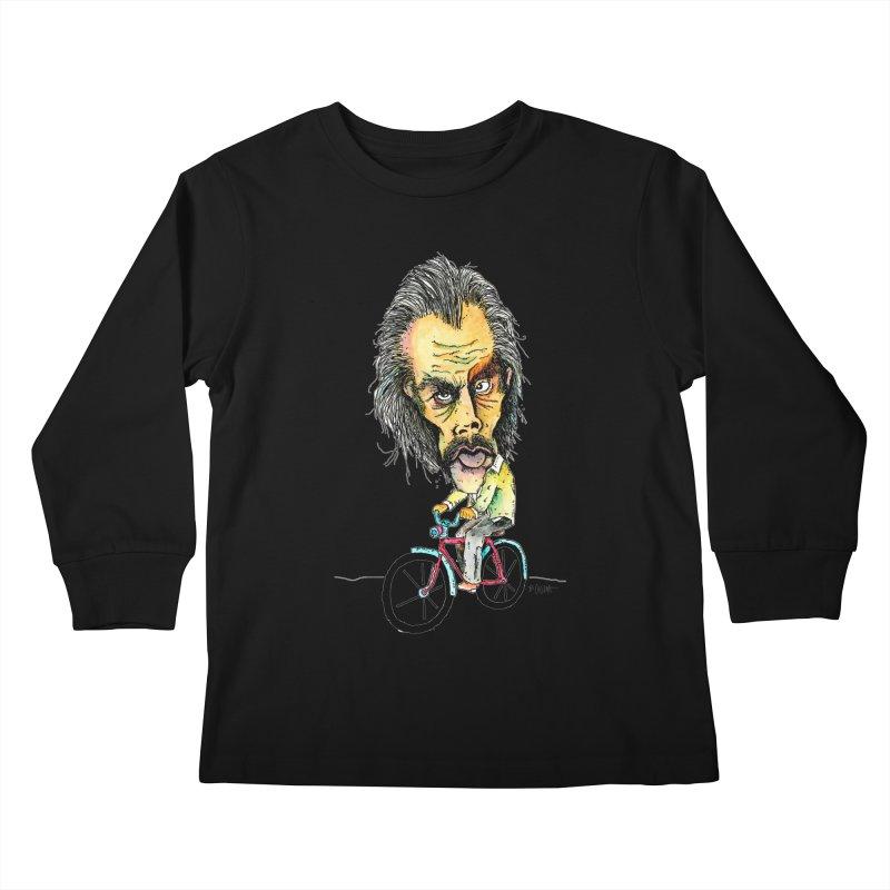 Nicks Wild Ride Kids Longsleeve T-Shirt by Bad Otis Link's Artist Shop