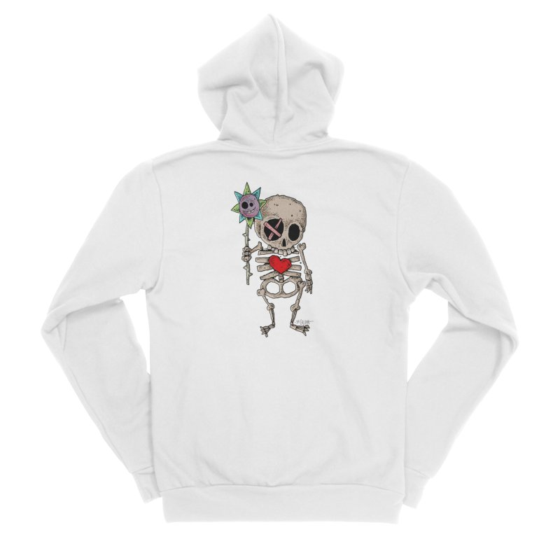 The Generous Dead Guy Women's Sponge Fleece Zip-Up Hoody by Bad Otis Link's Artist Shop