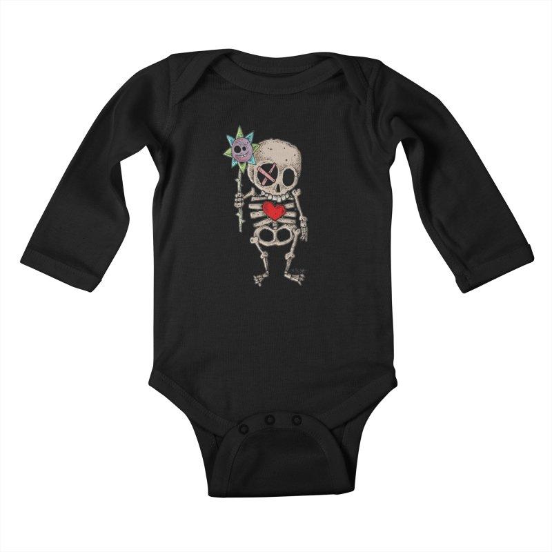 The Generous Dead Guy Kids Baby Longsleeve Bodysuit by Bad Otis Link's Artist Shop