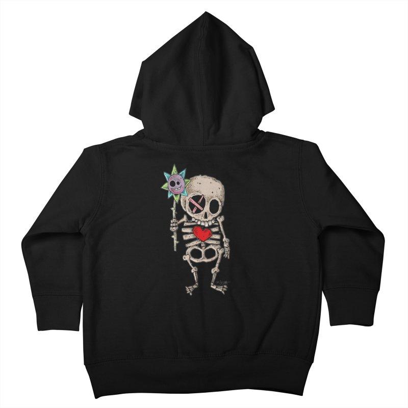 The Generous Dead Guy Kids Toddler Zip-Up Hoody by Bad Otis Link's Artist Shop