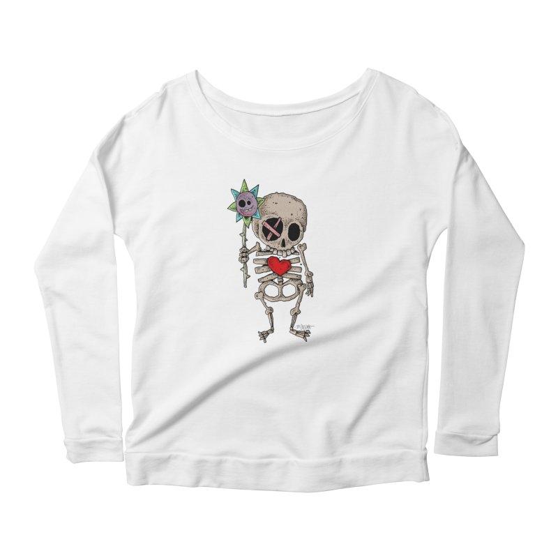 The Generous Dead Guy Women's Scoop Neck Longsleeve T-Shirt by Bad Otis Link's Artist Shop
