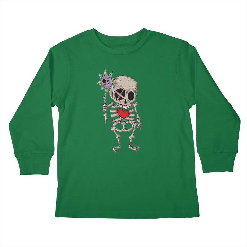 The Generous Dead Guy Kids Longsleeve T-Shirt by Bad Otis Link's Artist Shop