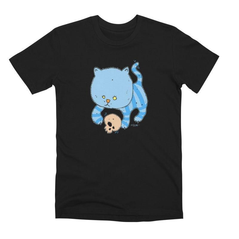 Cat and Skull Men's T-Shirt by Bad Otis Link's Artist Shop