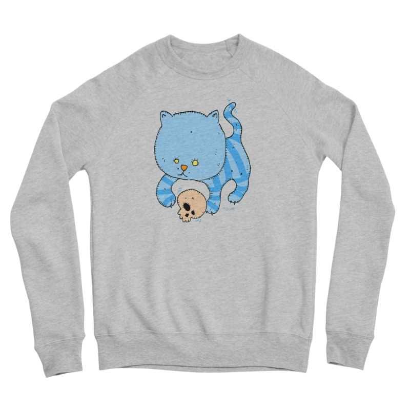 Cat and Skull Women's Sponge Fleece Sweatshirt by Bad Otis Link's Artist Shop