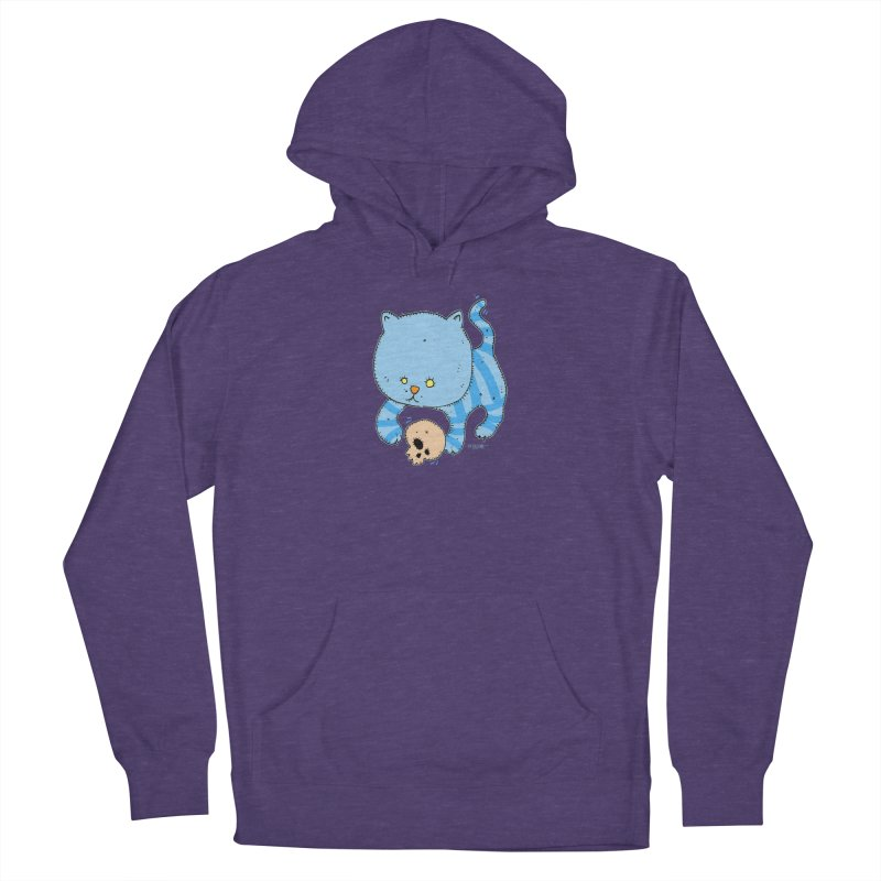 Cat and Skull Men's Pullover Hoody by Bad Otis Link's Artist Shop
