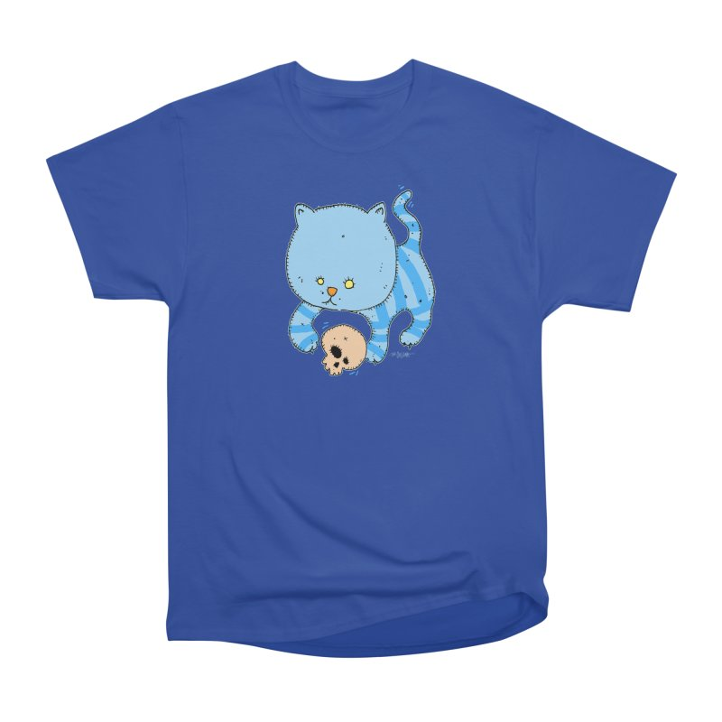 Cat and Skull Men's Heavyweight T-Shirt by Bad Otis Link's Artist Shop